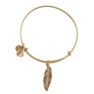 Alex and Ani feather bangle bracelet
